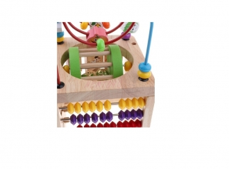 Multifunkční didaktická kostka dřevěná