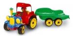 Traktor s vlekem a  panáčkem