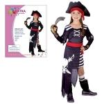 Karnevalový kostým PIRÁTKA 110-120 cm