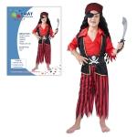 Dětský karnevalový kostým PIRÁT 120-130cm