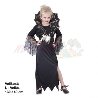 Šaty na karneval - Černá královna, 130-140 cm