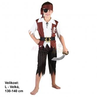Karnevalový kostým PIRÁT 130-140 cm