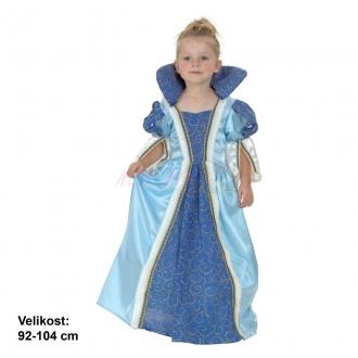 Dětský karnevalový kostým PRINCEZNA MODRÁ