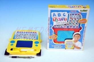 Wiky Naučný tablet ABC+psací plocha 20x25cm