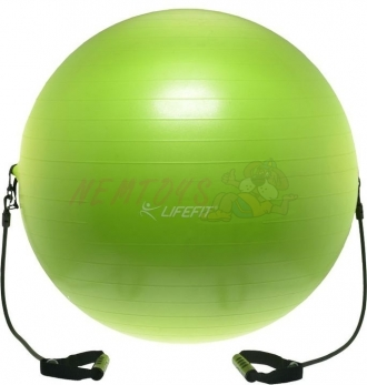 Gymnastický míč s expanderem LIFEFIT GYMBALL EXPAND 75 cm