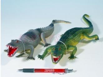 Krokodýl plast 36-41cm asst 2 barvy