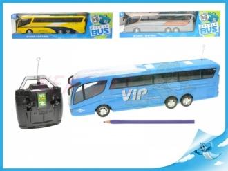 R/C autobus 33cm na baterie 27MHz plná funkce se světlem 3barvy