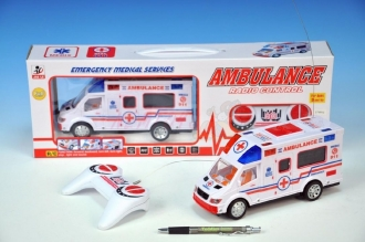 Ambulance RC plast 22cm 27MHz na bat..