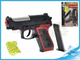 Pistole na kuličky 15cm s kuličkami na kartě