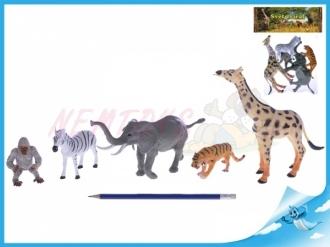 Zvířátka safari 6-17cm 5ks v sáčku
