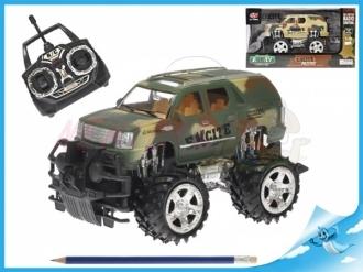 R/C vojenské terénní auto 25cm 1:18 27MHz na baterie plná funkce 2barvy