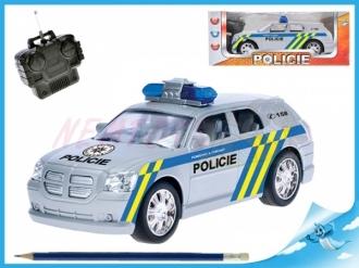 R/C auto policie 20cm 27MHz na baterie plná funkce