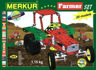 Stavebnice Merkur Farmer set 20 modelů 341 ks