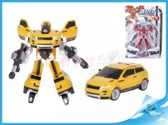 Robot/auto 22cm 2barvy na kartě