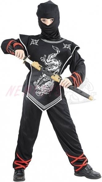 Karnevalový kostým STŘÍBRNÝ NINJA