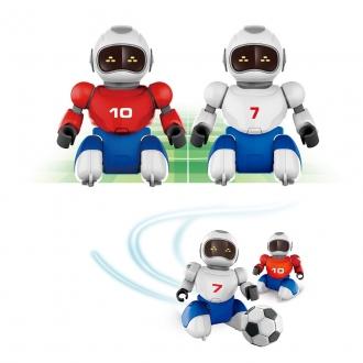 Robofotbal na dálkové ovládní, 2 ks + 2 branky, 36x24cm