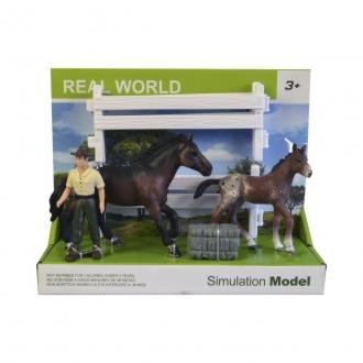 Farmář s koni