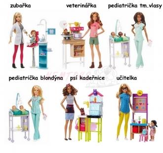Barbie povolání herní set s panenkou