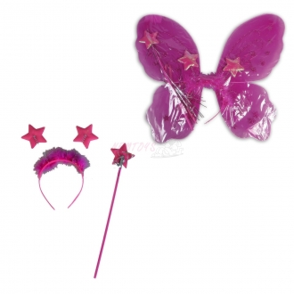 Karnevalový kostým-křídla purpurová