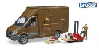 Bruder 2538 MB Sprinter UPS s řidičem a příslušenstvím