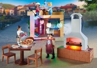 Playmobil City Life 70336 Pizzerie se zahrádkou
