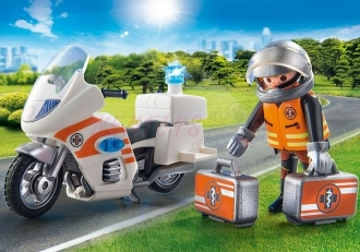 PLAYMOBIL® City Life 70051 Zásahový motocykl záchranářů se světly