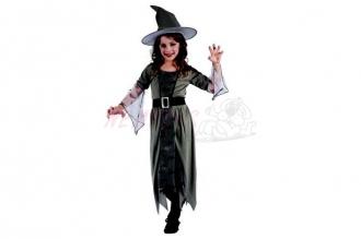 Dětský karnevalový kostým Čarodějnice 120-130cm 5-9let