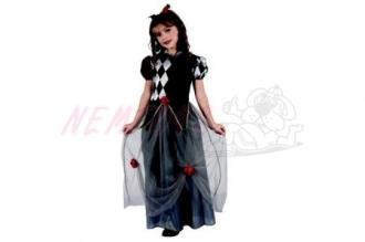 Dětský karnevalový kostým Princezna šašek 120-130cm 5-9let (joker)