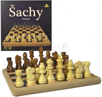 Šachy dřevěné 21x21cm