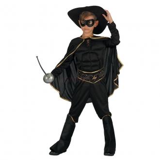 Šaty na karneval - bandita, 130-140 cm