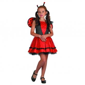 Dětský karnevalový kostým - Beruška 120-130 cm