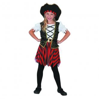 Dětský karnevalový kostým - Pirátka 110-120cm