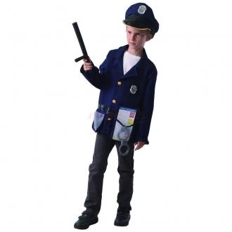 Dětský karnevalový kostým - policista, 110 - 120 cm