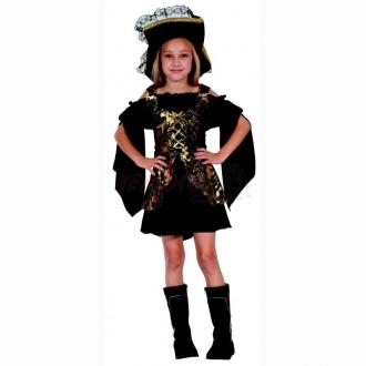 Dětský karnevalový kostým - Pirátka 110 - 120 cm