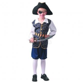 Dětský karnevalový kostým - Pirát, 110 - 120 cm