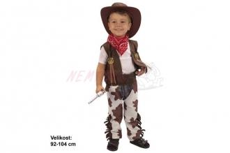 Dětský karnevalový kostým KOVBOJ 92-104cm 3-4let