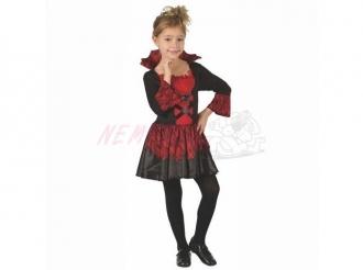 Dětský karnevalový kostým - Upírka, 120 - 130 cm (Kostým na karneval)