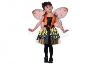 Dětský karnevalový kostým MOTÝLÍ VÍLA 92-104cm 3-4let (šaty na karneval)