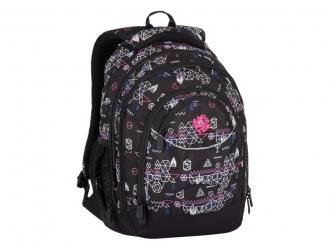 Studentský batoh Energy 7 E Black/Pink