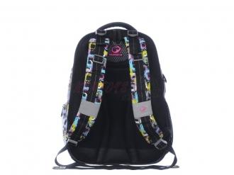Dívčí školní batoh ORION 0115 A BLACK/COLOURS