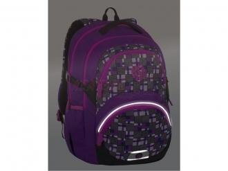 Dívčí školní batoh Bagmaster THEORY 7 C VIOLET/PINK