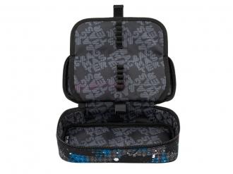 Studentský penál BAGMASTER CASE BAG 9 D BLUE/GRAY/BLACK