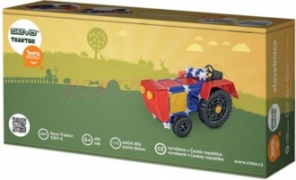 VISTA SEVA Traktor plastová STAVEBNICE 115 dílků v krabici