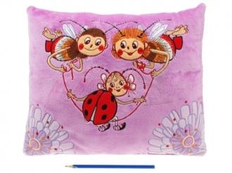 Plyšový polštář Včelí medvídci 45 x 36 cm
