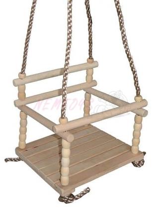 Dětská dřevěná houpačka