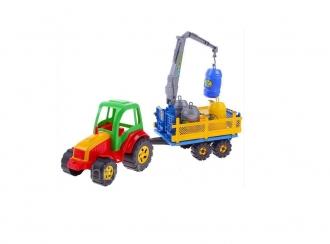 Traktor Tytan Carrier 60cm  s vlekem , mechanickým ramenem a sudyt