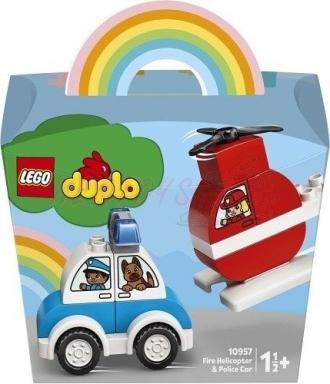 Lego Duplo 10957 Duplo Hasičský vrtulník a policejní auto