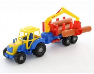 Traktor Mistr - nakladač s kládami