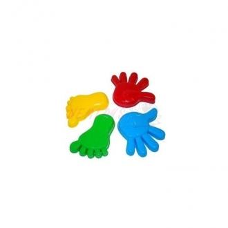 Formičky 4 ks v sítce - ruce,nohy