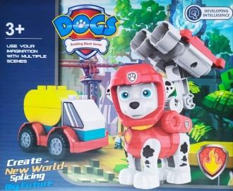 Tlapková patrola stavebnice - postavička s autíčkem
